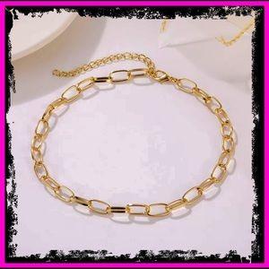 🆕 9k Gold Punk Miami Cuban Choker Necklace